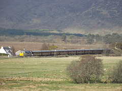 55022 approaches Strathcarron station