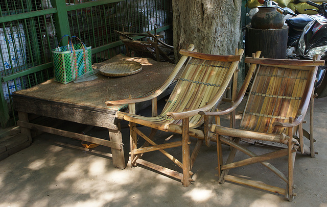 Traditional bamboo chair