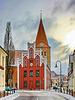 Schwaan, Rathaus und Kirche