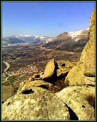 Valley of Bustarviejo from the Sierra de La Cabrera.