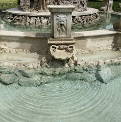 Details of a fountain.