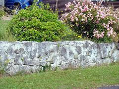 Stonework Fence.