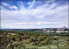 Casa de Campo and North-western Madrid from the teleferico.