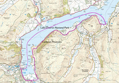A 6.5 mile walk on the last day of May 1993, from Glenridding, taking the ferry to Howtown Pier and back along the Southern shore of Ullswater.