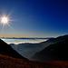 Morgenstimmung über dem Rheintal bei Landquart - Laufböden  (© Buelipix)