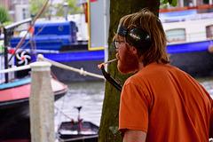 Sail Leiden 2018 – Lighting a cigarette