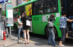 Bushaltestelle in Seoul - Bus Stop in Seoul