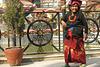 Dans le Ghyoilisang Peace Park, Boudhanath = Bodnath, à côté de Kathmandu (Népal)