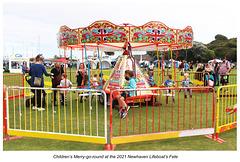 Children's merry-go-round RNLI fete Newhaven 11 9 2021