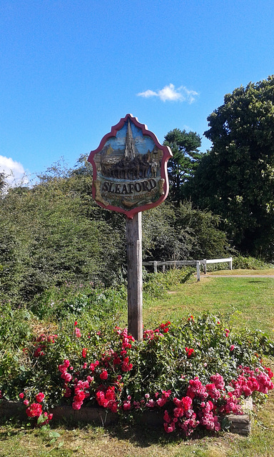 Sleaford town sign ~ Lincolnshire