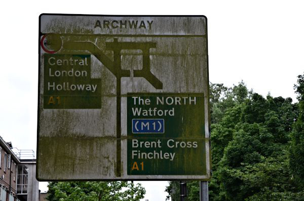Archway gyratory (through routes)