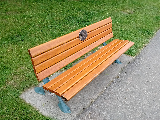 Peace & love woody bench