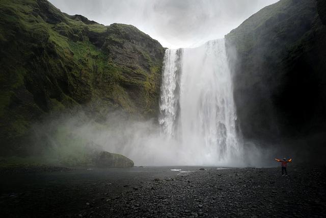 Skógafoss waterfall