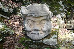 Honduras, Stone Artefact at the Copan Ruinas Archaeological Site