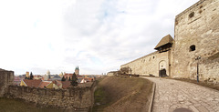 Eger, Castle Wall and Panorama of Town