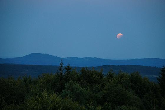 full moon rising over Přimda