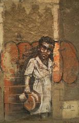 Standing on walled door, by Rosarlette.