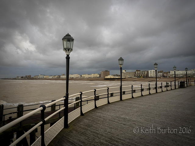A deserted Worthing Pier