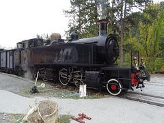 ...le train des pignes,à vapeur...