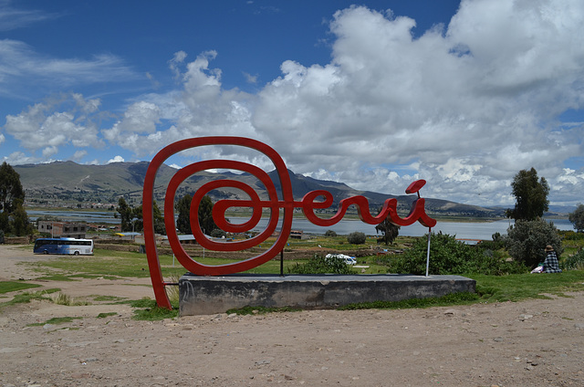 The Sign on the Peruvian-Bolivian Border