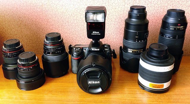 My camera and lenses.