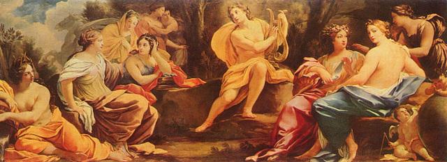 Le Parnasse ou Apollon et les Muses
