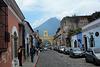 Antigua de Guatemala, 5a Avenida Norte, Santa Catalina Arch and Volcano de Agua