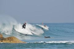 Netanya, Surfers on the Wave