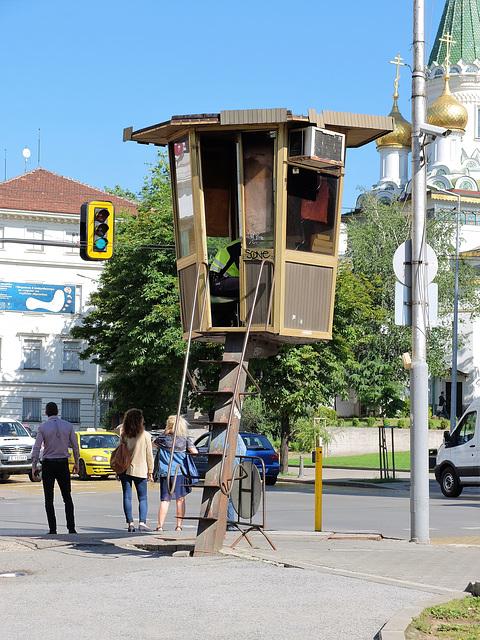 Verkehrsregelung in Sofia ;-)