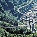 Passy (74) 4 septembre 2020. Le viaduc reliant Saint-Gervais-les-Bains à Chamonix.