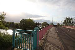 Brücke über den Elbe-Havel-Kanal am Abend