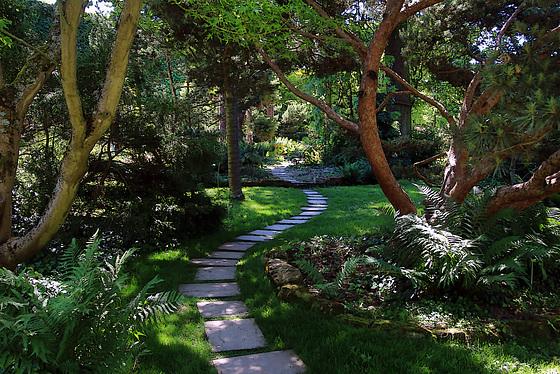 Le chemin de la sagesse , a des jardins.......