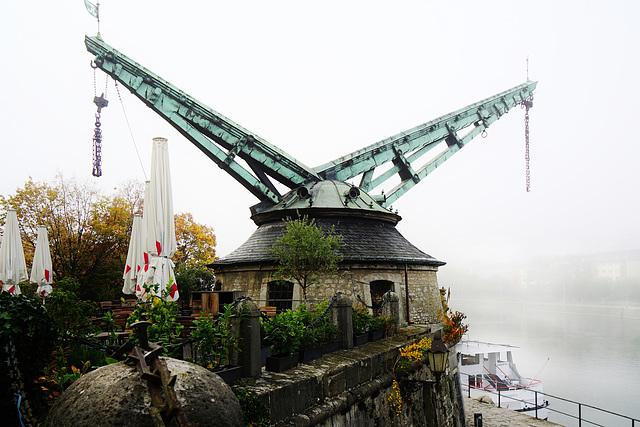 Der Alte Kranen im Morgennebel - The old crane in the morning mist