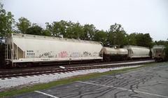 Graffitis sur wagon / Tags on wagon