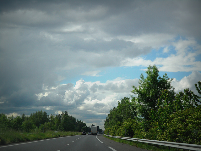 on the road in Francia