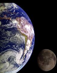 Erde und Mond - tero kaj luno - Meditation - meditado