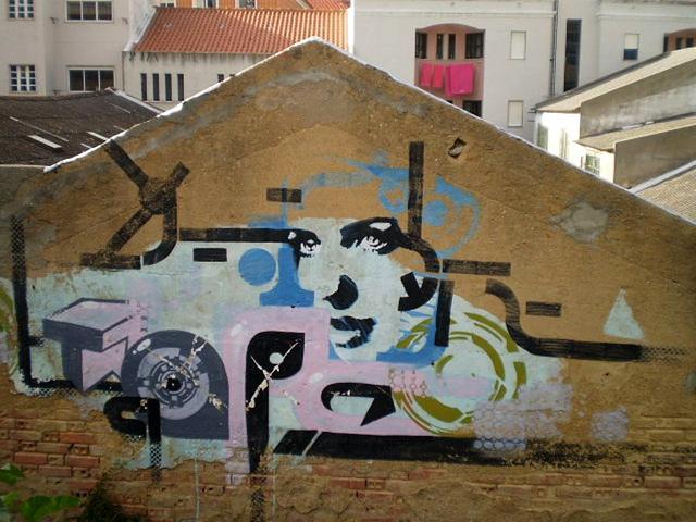 Street art on warping.