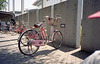 Pink bike at a gym
