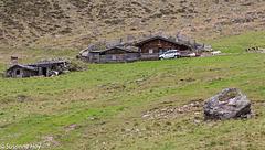 Almhütte mit Ziegen - Alm hut with goats