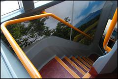 Lakes bus staircase