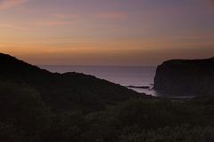 Evening sky at Crackington Haven