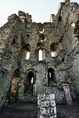 East Tower interior walls - Helmsley Castle