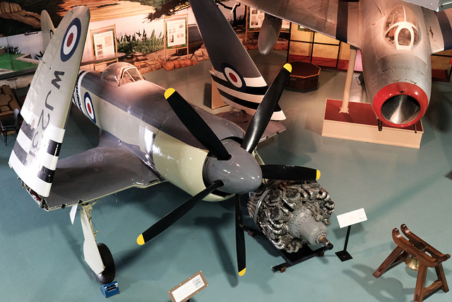 Fleet Air Arm Museum X Pro2 8 Sea Fury and MIG