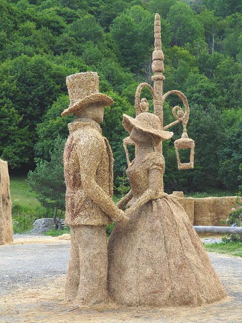 sculpture sur paille et foin (Valloire-Savoie)