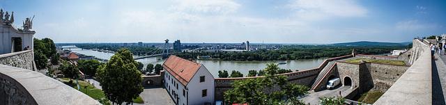 view from Castle Bratislava