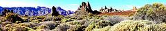 Erster Blick auf die Spitzen der 'Roques de García'. ©UdoSm