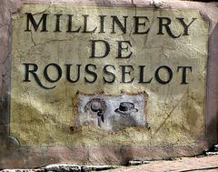 2007 Millinery De Rousselot Sign