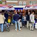 Fishmonger at the Leiden market