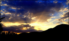 Sunset over Cercedilla
