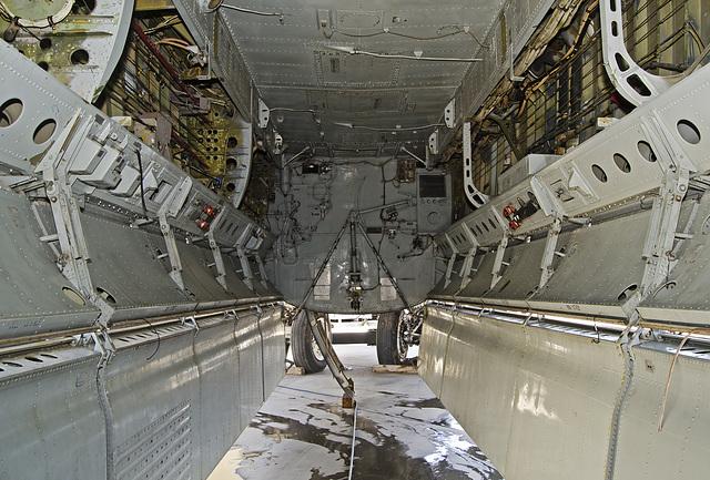 Bomb bay of Boeing B-52G Stratofortress 58-0183